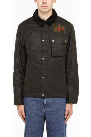 Barbour Dark wax field jacket with patch