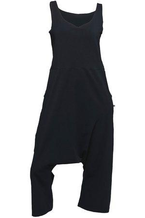 Women Jumpsuits - Women's Artisanal Black Cotton Non643 Loose Fit Baggy Jumpsuit Small NON+