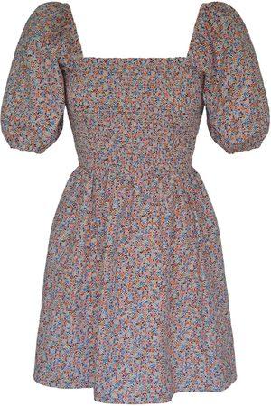 Women's Artisanal Cotton Gloria Mini Dress Floral Medium K By Kaia