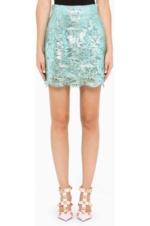 Dolce & Gabbana Women Mini Skirts - Light laminated lace mini skirt
