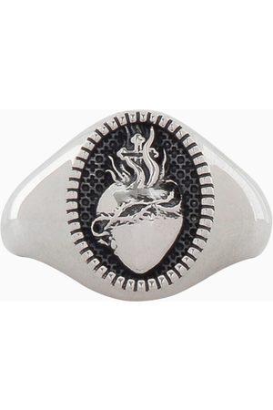 NOVE25 Chevalier Ovale Cuore Sacro ring