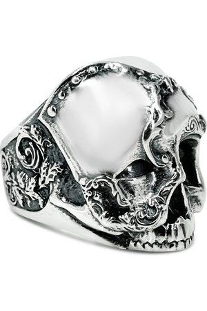 Men Rings - Men's Artisanal Sterling Silver Carnevale - Oxidised Ring Girati