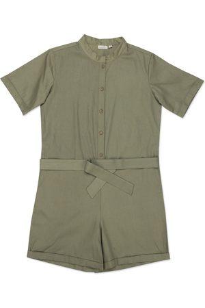 Women's Artisanal Green Ayur Play Suit Small Maatie
