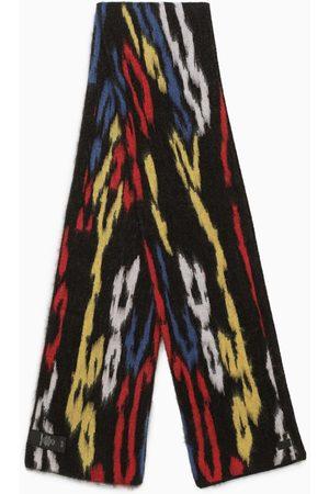 Saint Laurent Men Scarves - Multicolour leopard print scarf