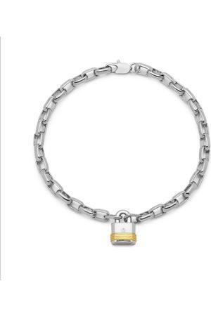 Men Bracelets - Men's Silver Lock Chain Bracelet Northskull