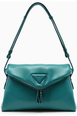 Prada Teal leather shoulder bag