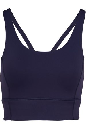 Women Sports Bras - Women's Recycled Peach Fabric Low Impact Navy Sports Bra XL Perky Peach
