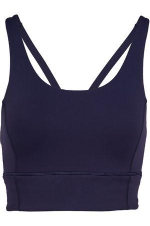 Women Sports Bras - Women's Recycled Peach Fabric Low Impact Navy Sports Bra XXS Perky Peach
