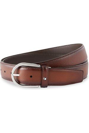 Montblanc Horseshoe Leather Buckle Belt