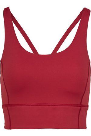 Women Sports Bras - Women's Recycled Peach Fabric Low Impact Red Sports Bra Small Perky Peach