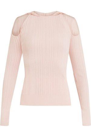 Hervé Léger Women Long sleeves - Twisted Neckline Long Sleeve Top