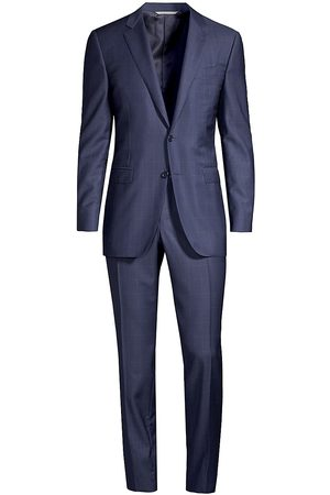 CANALI Large Check Patterned Two-Button Suit