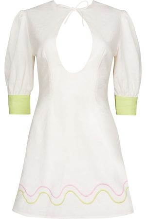 Women's White Cotton Serena Dress Medium CINTA THE LABEL