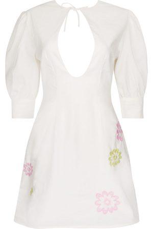 Women's White Cotton Valeria Dress Large CINTA THE LABEL