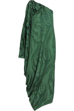 Silvia Tcherassi Women Tunic Dresses - Crema One-Shoulder Tunic Dress