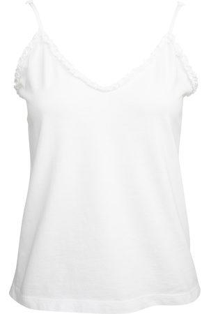 Women Sweats - Women's Low-Impact White Cotton Cassia Organic Cami Large Wallace Cotton