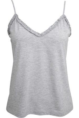 Women Sweats - Women's Low-Impact Grey Cotton Cassia Organic Cami Small Wallace Cotton