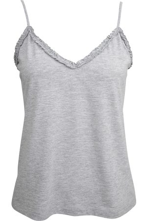 Women's Low-Impact Grey Cotton Cassia Organic Cami Medium Wallace Cotton