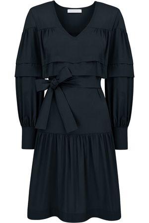 Women's Artisanal Black Cotton Oversize Klara Dress Small SaintBy