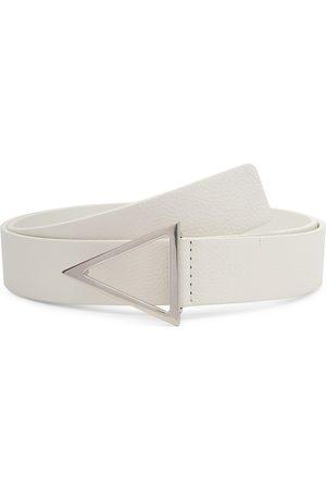 Bottega Veneta Men Belts - Triangle-Buckle Leather Belt