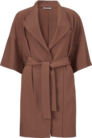 Women's Recycled Brown Crepe Idi Jacket Medium Fonnesbech
