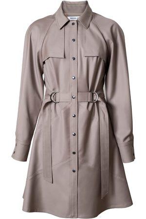 Women Party Dresses - Women's Low-Impact Natural Wool Elsa Mini-Length Dress Small DIANA ARNO