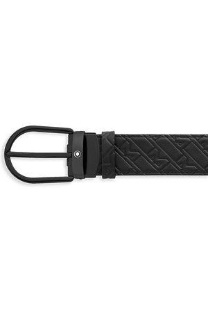 Montblanc Horseshoe Monogram Leather Belt
