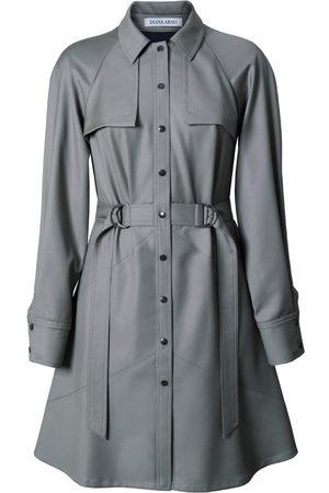 Women's Low-Impact Green Wool Elsa Mini-Length Dress XS DIANA ARNO