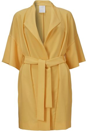 Women's Recycled Yellow/Orange Crepe Idi Jacket XS Fonnesbech