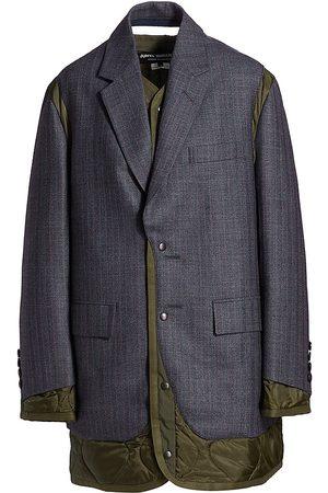 JUNYA WATANABE Women Blazers - Mixed Quilted & Blazer Coat