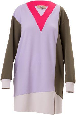 Women's Artisanal Crepe color Mini Dress Small Julia Allert
