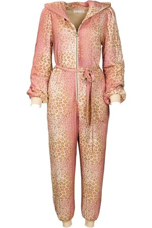 Women Jumpsuits - Women's Artisanal Natural Fabric La Reve Jumpsuit Leopard Small Kristinit