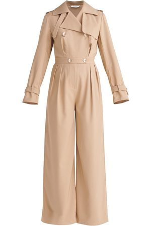 Women Trench Coats - Women's Non-Toxic Dyes Natural Trench Jumpsuit Medium PAISIE