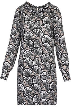 Women Party Dresses - Women's Grey Mini Turtleneck Dress Small BUBALA