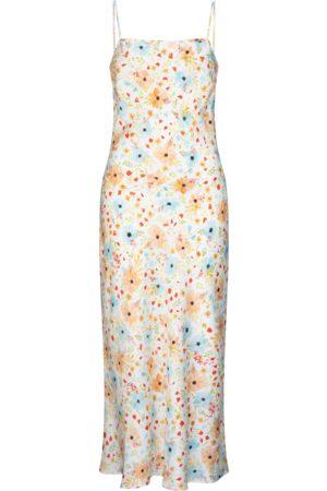 Women's Non-Toxic Dyes Peach Silk Avalon Dress y Posy Medium RALF STUDIOS