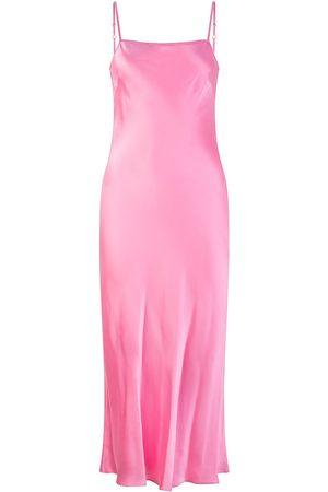 Women's Non-Toxic Dyes Pink/Purple Silk Avalon Dress Fairy Floss Medium RALF STUDIOS