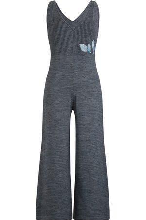 Women Jumpsuits - Women's Artisanal Blue Cotton Mina Jumpsuit M/L Raices by Maud