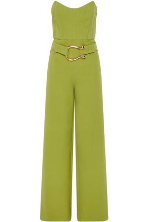 Women's Green Fabric Sigrid Jumpsuit Lime Large Derma Department
