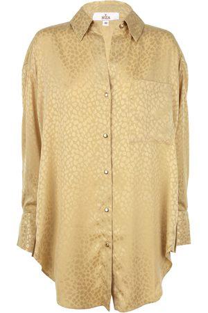 Women Long sleeves - Women's Yellow/Orange Shirt With A Lapel Neck & Long Sleeves NIZA