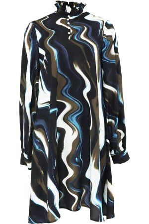 Women's Organic White Silk Long Sleeve Mini Dress Medium Gunda Hafner Ltd