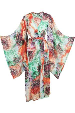 Women Kimonos - Women's Artisanal Techno Flower Kimono Large Jennafer Grace