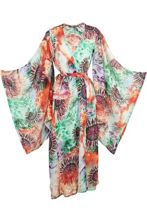 Women Kimonos - Women's Artisanal Techno Flower Kimono Medium Jennafer Grace