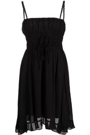 Women Party Dresses - Women's Artisanal Black Fabric Mini Dress Medium Cynthia Rowley