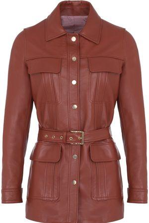 Women Leather Jackets - Women's Artisanal Leather Camelia Jacket XS Koshka Paris