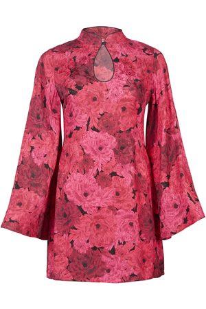 Women's Rose Silk Crop Top Large Sophie Cameron Davies
