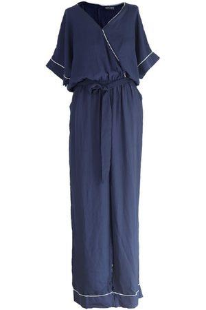 Women's Artisanal Blue Chloe Jumpsuit 5XL SOHUMAN