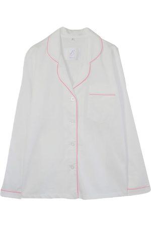 Artisanal White Cotton Women's Pyjama Shirt - Organic Small Billy Sleeps