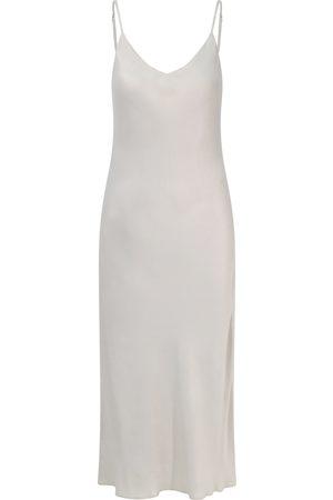 Women's Natural Fibres Grey Fabric Lily Slip Dress Medium Nola London