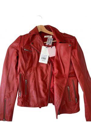 Naf-naf Leather blazer