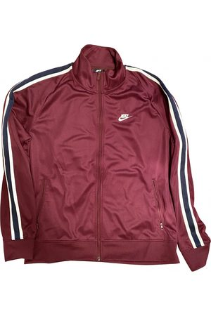 Nike Burgundy Polyester Knitwear & Sweatshirt